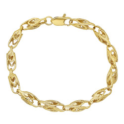 6 0.25 mils (6 microns) 14k Yellow Gold Plated Square Chain Necklace, 8'9'24'29'30'36 + Jewelry Cloth & Pouch