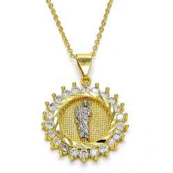 0.25 mils 14k Yellow Gold Plated Clear CZ Type Type Type Pendant, 43mm x 30mm (⅔ inches' x ⅛ inches')