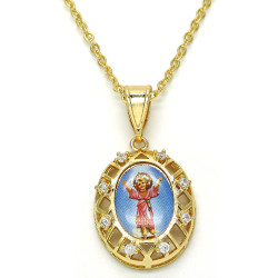 Polished 0.25 mils 14k Yellow Gold Plated Clear CZ Type Type Type Pendant, 35mm x 18mm (⅓ inches' x ⅔ inches')