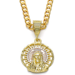 14k Yellow Gold Plated Type Type Type Pendant, 52mm x 29mm (' x ⅛ inches')