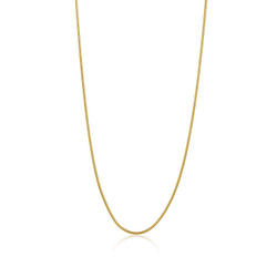 1.9mm 0.16 mils (4 microns) 24k Yellow Gold Plated Stainless Steel Round Snake Chain, 18'-30 + Jewelry Cloth/Box/Bag