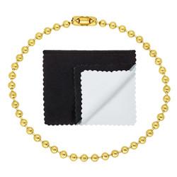 3.3mm 14k Yellow Gold Plated Ball Military Ball Chain Bracelet + Gift Box