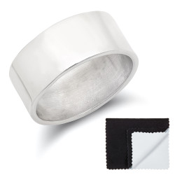 9mm High-Polished .925 Sterling Silver Wedding Band Ring