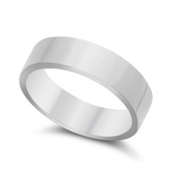 5mm Solid .925 Sterling Silver Wedding Band Ring + Gift Box