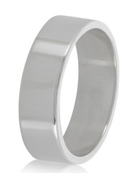 7mm Solid .925 Sterling Silver Wedding Band Ring + Gift Box