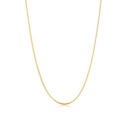 2mm 24k Yellow Gold Plated Stainless Steel Square Box Chain Necklace + Gift Box