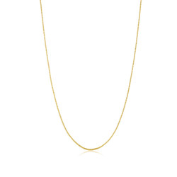 1.6mm 24k Yellow Gold Plated Stainless Steel Square Box Chain Necklace + Gift Box