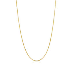 2mm Polished 24k Yellow Gold Plated Stainless Steel Square Box Chain Necklace + Gift Box