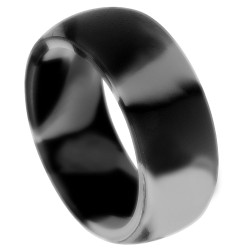 9mm Wide Silicone Grey Band Ring
