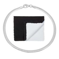 3.1mm Solid .925 Sterling Silver Flat Herringbone Chain Bracelet