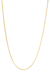 Women's 1mm 24k Yellow Gold Plated Round Snake Chain Necklace