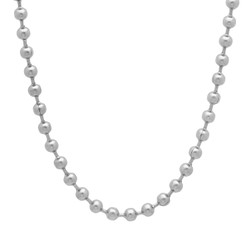 4mm Durable Stainless Steel Smooth Beaded Ball Chain Necklace