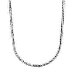 2mm High-Polished Stainless Steel Round Snake Chain Necklace, 18'-24