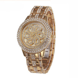 Men's Gold Stainless Steel Watch
