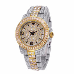 Men's Clear Stainless Steel Watch
