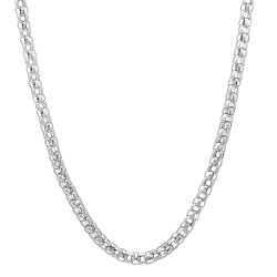 2.5mm High-Polished Stainless Steel Round Popcorn Chain Necklace