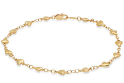 Women's 5.5mm 14k Yellow Gold Plated Cable Cable Chain Link Bracelet