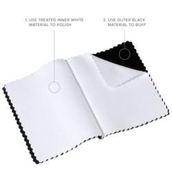 925 Sterling Silver Italian Crafted Ellipse Shaped w/CZ Inlay 6.4mm Wedding Band + Bonus Polishing Cloth