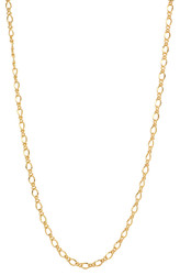 Women's 2.7mm 24k Yellow Gold Plated Cable Chain Necklace