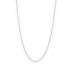 2mm High-Polished 0.16 mils (4 microns) Rose Gold Plated Silver Round Ball Chain Necklace, 7'-30