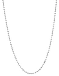 3mm Oxidized Plated Silver Round Ball Chain Necklace, 7'-30