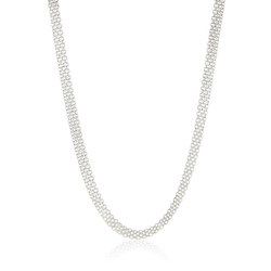Men's 5.7mm Solid .925 Sterling Silver Flat Bismark Chain Necklace