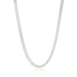 Men's 5.7mm High-Polished .925 Sterling Silver Flat Bismark Chain Necklace, 8'-30