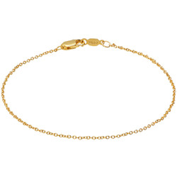 1.3mm High-Polished 0.25 mils (6 microns) 24k Yellow Gold Plated Cable Chain Necklace, 7'-30