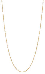 1.3mm 24k Yellow Gold Plated Cable Chain Necklace