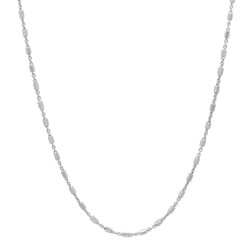 1.3mm Solid .925 Sterling Silver Flat Link Chain Necklace