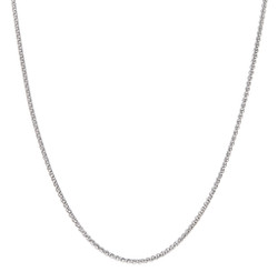 1.9mm Rhodium Plated Silver Braided Wheat Chain Necklace