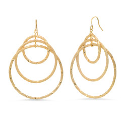 14k Yellow Gold Plated Drop Earrings