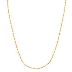 1mm 24k Yellow Gold Plated Ball Military Ball Chain Necklace + Gift Box
