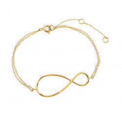 41.7mm Polished 0.16 mils (4 microns) Gold Plated Silver Cable Chain Anklet, 9 inches