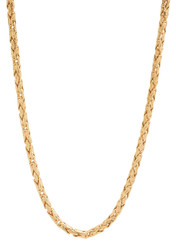 3.3mm 14k Yellow Gold Plated Flat Byzantine Chain Necklace