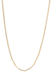 1.5mm 24k Yellow Gold Plated Flat Mariner Chain Necklace