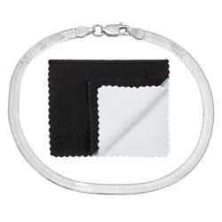 3mm-8mm Solid .925 Sterling Silver Flat Herringbone Chain Bracelet