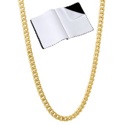 1mm-7mm 14k Yellow Gold Plated Flat Cuban Link Curb Chain Necklace
