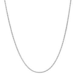 0.8mm Solid .925 Sterling Silver Flat Twisted Serpentine Chain Necklace
