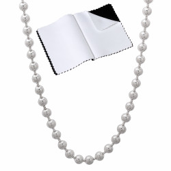 3mm Solid .925 Sterling Silver Ball Military Bead Chain Necklace