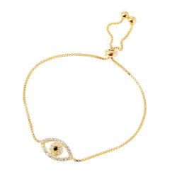 9mm Polished Gold Plated Silver Black Cubic Zirconia Box Bolo Bracelet, 9 inches