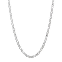 1.9mm Solid .925 Sterling Silver Square Box Chain Necklace + Gift Box