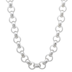 Men's 5.8mm Solid .925 Sterling Silver Round Rolo Chain Necklace + Gift Box