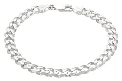3mm-16mm Solid .925 Sterling Silver Beveled Curb Chain Bracelet