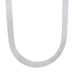 3mm-14mm Solid .925 Sterling Silver Flat Herringbone Chain Necklace or Bracelet