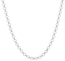 1mm-5mm Solid .925 Sterling Silver Round Rolo Chain Necklace or Bracelet