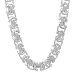 6mm-8mm Solid .925 Sterling Silver Flat Byzantine Chain Necklace or Bracelet
