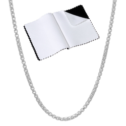 1.9mm High-Polished .925 Sterling Silver Square Box Chain Necklace