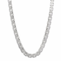 4.5mm Solid .925 Sterling Silver Square Box Chain Necklace + Gift Box