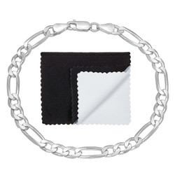 5.5mm Solid .925 Sterling Silver Flat Figaro Chain Bracelet